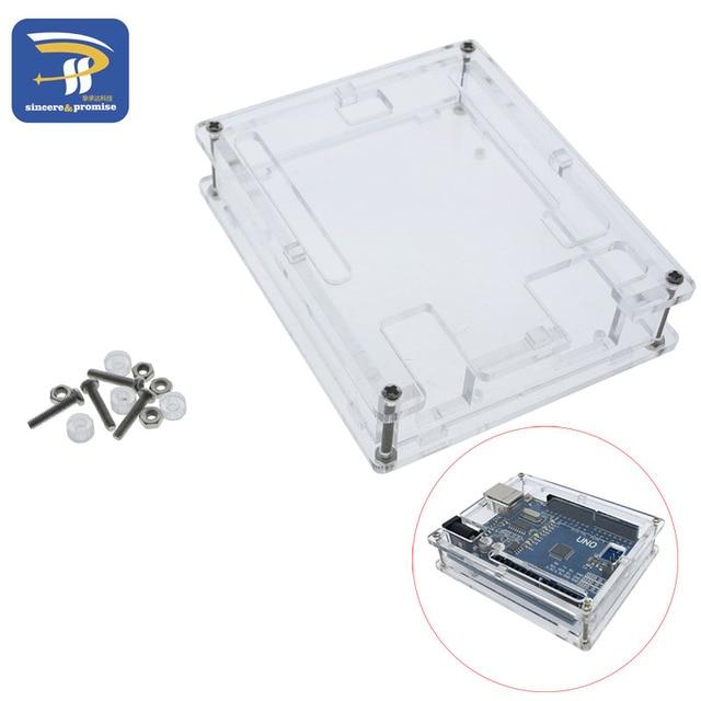 אחד סט שקוף תיבת מקרה מעטפת עבור Arduino UNO R3