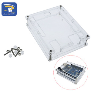 Image 1 - One set Transparent Box Case Shell for Arduino UNO R3