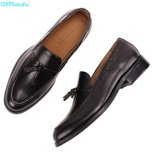 QYFCIOUFU 2019 New Brand Men Oxford Shoes Genuine Leather formal shoes Handmade Footwear Wedding Office luxury Mens dress
