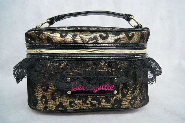 Leopard  Lace   Cosmetic Cases     makeup bag Lace cosmetic bags  cosmetic set