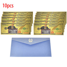 Hot 10pcs/lot one Million Gold Foil Banknote The US America President Trump USD 1000000 Dollar for Gift