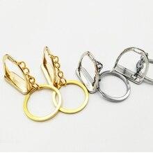 Простой Элегантный дизайн Западная стремя брелок ключ подвеска с кольцом инструмент для мужчин женщин сумка украшения Конный лошадь тема