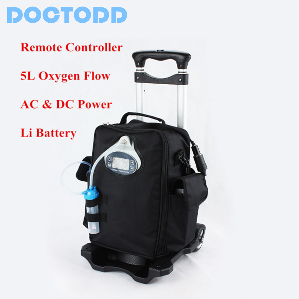 Li Battery Oxygen Concentrator Lithium Battery Oxygen Generator For Medical Health Care Outdoor Use Portable O2 Bar