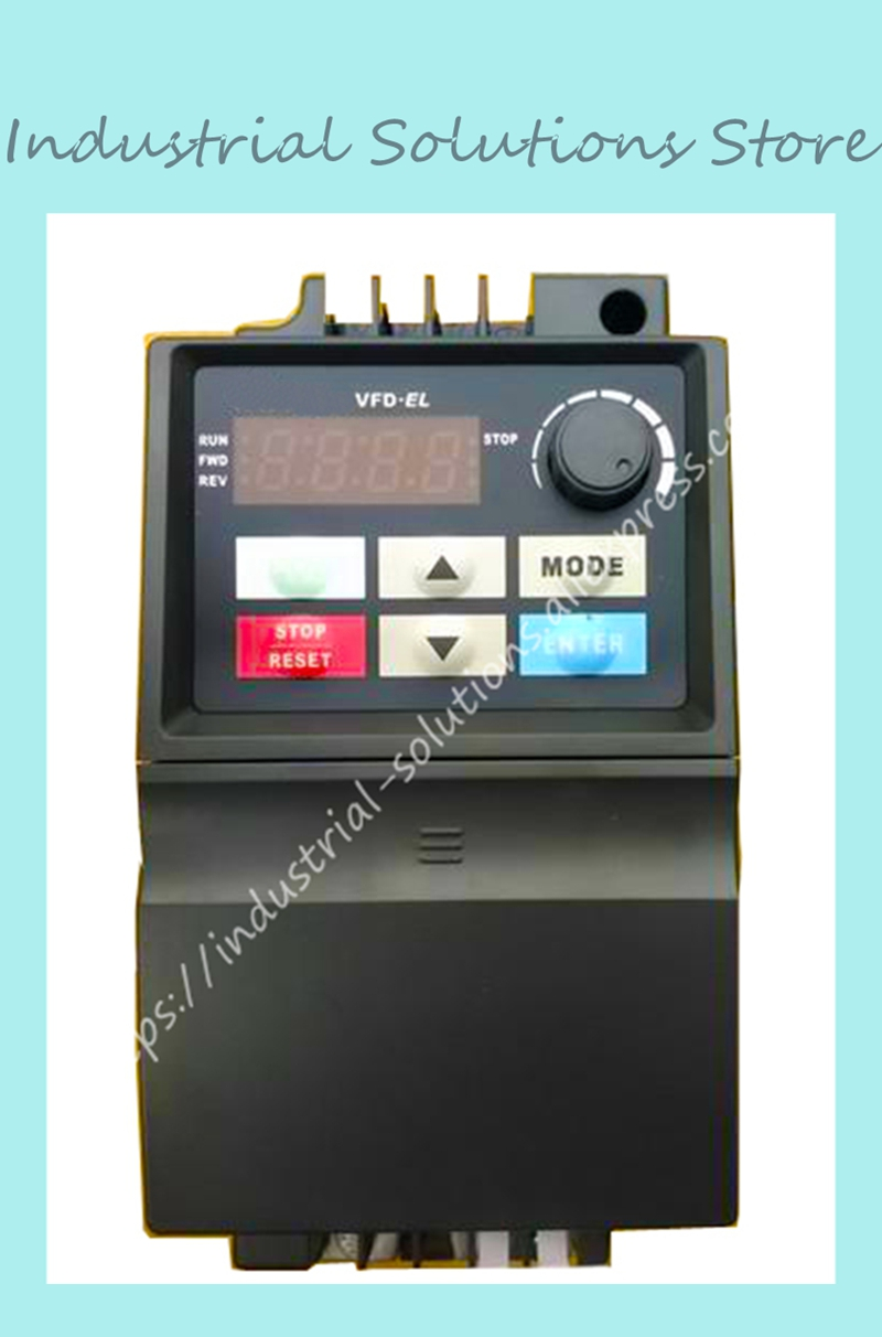 Input AC 3ph 380V Output AC 3ph El Inverter Series VFD004EL43A 0~480V 1.5A 0.1~600Hz 0.4KW 0.5HP New Original input 3ph 380v output 3ph delta inverter vfd015b43a function 0 480v 4 2a 0 1 400hz 1 5kw 2hp new original