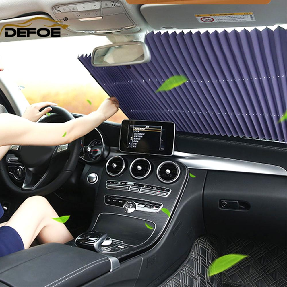 Automatic Telescopic Car Sunshade Sun Protection Car Sunshade Car Curtain Private Car Suv Truck All Can Use Size 65,70.80cm.
