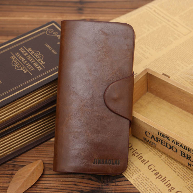 Wallet Men Leather Long Wallet Pockets ID Card Clutch Bifold Male Purse Carteiras Masculina #120 zelda wallet bifold link faux leather dft 1857