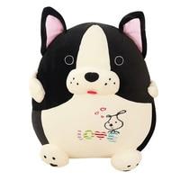 chubby french bulldog stuffed animal plush dog love doll valentine's day gift idea h76s2 30cm 45cm
