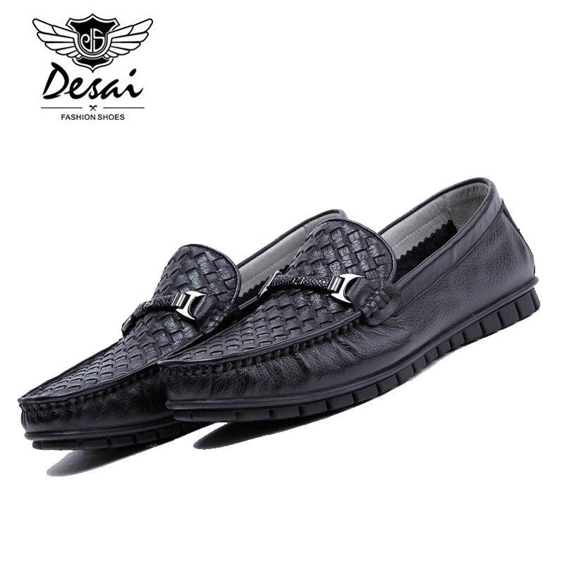 Фотография DESAI Brand Fashion Soft Genuine Leather Breathable Men