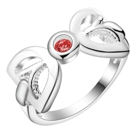 bright shiny decent red zircon Silver Ring Fine Fashion Women&Men Gift Silver Jewelry for Women, /YYFZSEXI VUWNXXUC