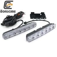 6500K White 2 Pcs High Power 12w Super Bright 6 LED DRL Daytime Running Lights Fog