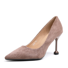 XZ008 Women Pumps Fashion Women Shoes Spring Autumn All Match Thin High Heel Pointed Toe Flock OL Pumps Ladies Shallow High Heel poadisfoo 2018 women s fashion simple thin high heel shallow mouth ladies sexy pumps 10 5cm psds 638 5