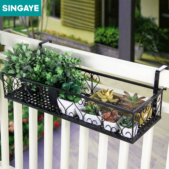 Sine Balcony Plant Storage Shelf For Succulent Flower Plants Organizer Rack Potted Garden Supplies