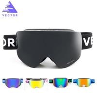 VECTOR Ski Goggles Masks Men Women 2 Lens Skiing Eyewear UV400 Anti Fog Snowmobile Snowboard Goggles