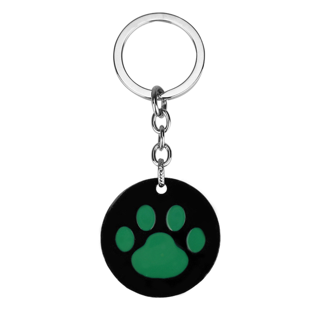 7a99a8cb3e MQCHUN Miraculous Ladybug Keychain Cat Noir Green Cat s Paw Logo Key Chains  For Women Men Bag Car Keyring Accessories