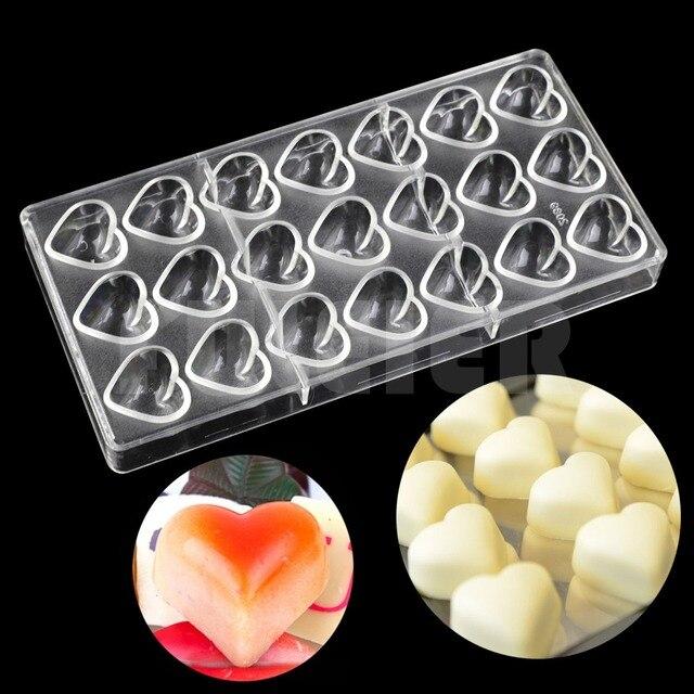 Bakeware Valentine S Day Heart Shape Plastic Chocolate Mold Kitchen