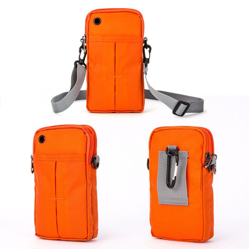 2018 Unisex Sport Running Riding Shoulder Bag Hanging Case For Cell Phone Holder Zipper Bags For Women Men Fashion Shoulder Bags