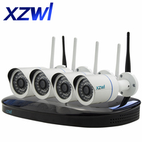 Plug And Play 960P Wireless NVR Surveillance Kit P2P 1 3MP FULL HD Outdoor Security IP