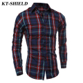 New Plaid Casual Long Sleeve Shirt Men Fashion Brand designer Slim fit Shirt Famous Brand Male Business Formal Dress Camisas XXL