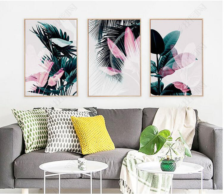 Nordic Botanic Wall Art Leaf Canvas Painting Posters And Prints Decorative Picture for Living Room No Frame
