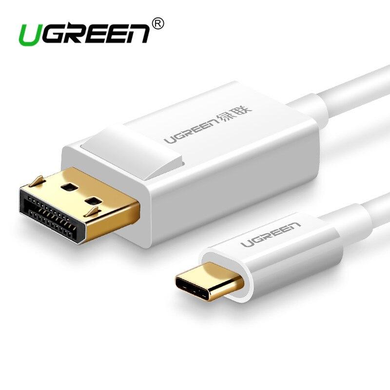 Ugreen USB C a DisplayPort Cable USB 3,1 tipo C DP Thunderbolt 3 adaptador para Samsung Galaxy S9/S8 huawei Mate 10 Pro USB-C DP