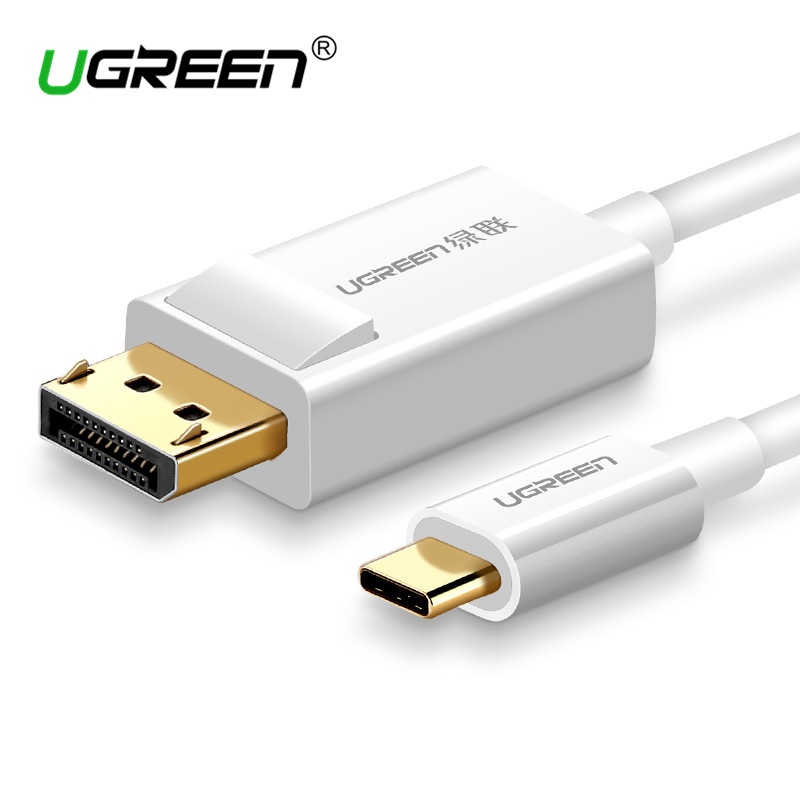 Ugreen USB C to DisplayPort Cable USB 3.1 Type C DP Thunderbolt 3 Adapter for Samsung Galaxy S9/S8 Huawei Mate 10 Pro USB-C DP ugreen dp высокой четкости линии соединительная линия видео кабель