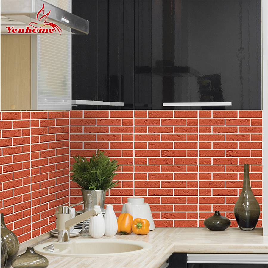 Aliexpress.com : Buy 3D Red Brick Subway Tiles Peel And
