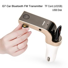 Multifunction 4-in-1 Car Bluetooth FM Transmitter with USB Flash Drive TF Music Player ,Bluetooth kit charger G7