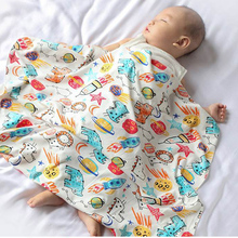 110*94cm Baby Cotton Blanket Wrapped Towel Blankets Cute Car