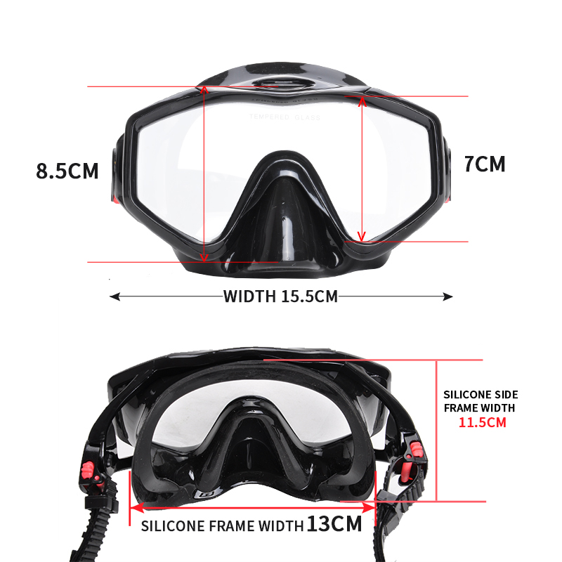 Équipement professionnel de plongée pour adultes avec masque et tuba palmes réglables Set équipement de plongée pour la chasse sous-marine natation - 4