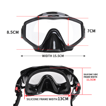 Professional Scuba Adult Diving Equipment With Mask Snorkel Adjustable Fins Set Snorkeling Gear For Underwater Hunting Swimming 9