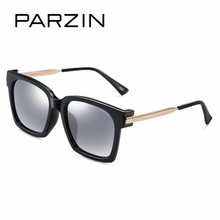 PARZIN Brand Winter New Polarized Sunglasses Men and Women Fashion Large Square Frame Driving sunglasses With Original Box 9673