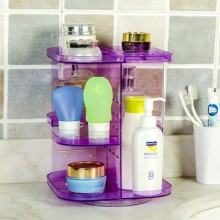 BF050 360 degree rotating desktop skincare cosmetic storage rack bathroom shelf 20*20*25cm