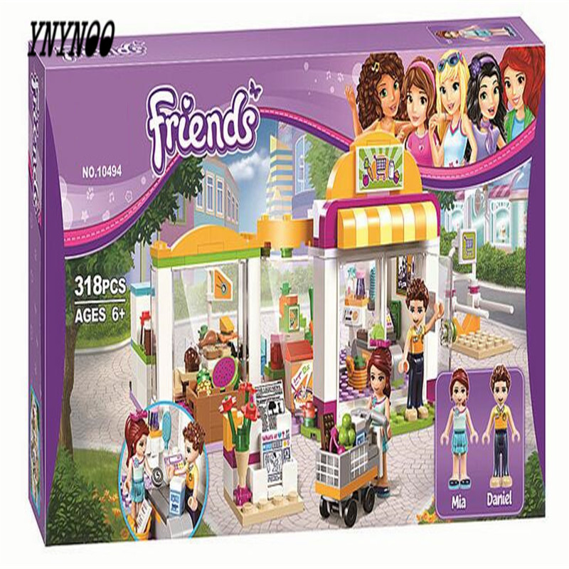YNYNOO BELA 10494 Compatible Lepin Friends Heartlake Supermarket 41118 Building Bricks Emma Mia Figure Toys For Children 10494 city supermarket building bricks blocks set girl toy compatible lepine friends 41118