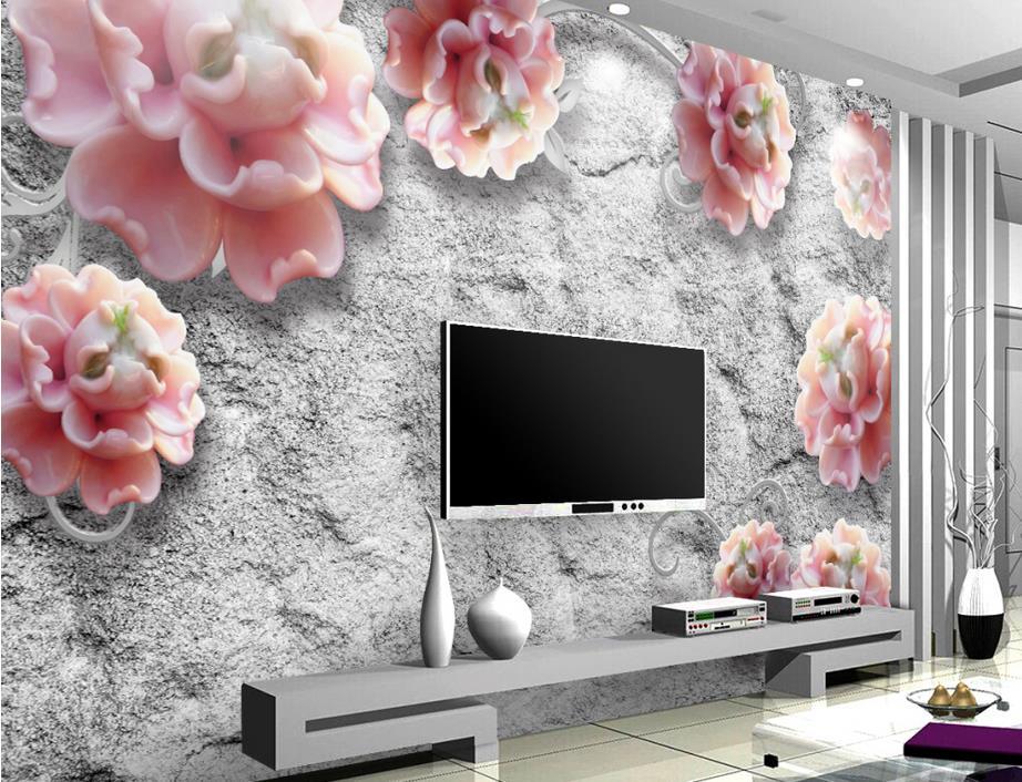 customize wallpaper for walls 3 d wallpaper Embossed peony flower vine 3d wall murals 3d wallpaper walls shinehome european roman pillar angel soft roll wallpaper for 3d rooms walls wallpapers for 3 d living room wall paper murals