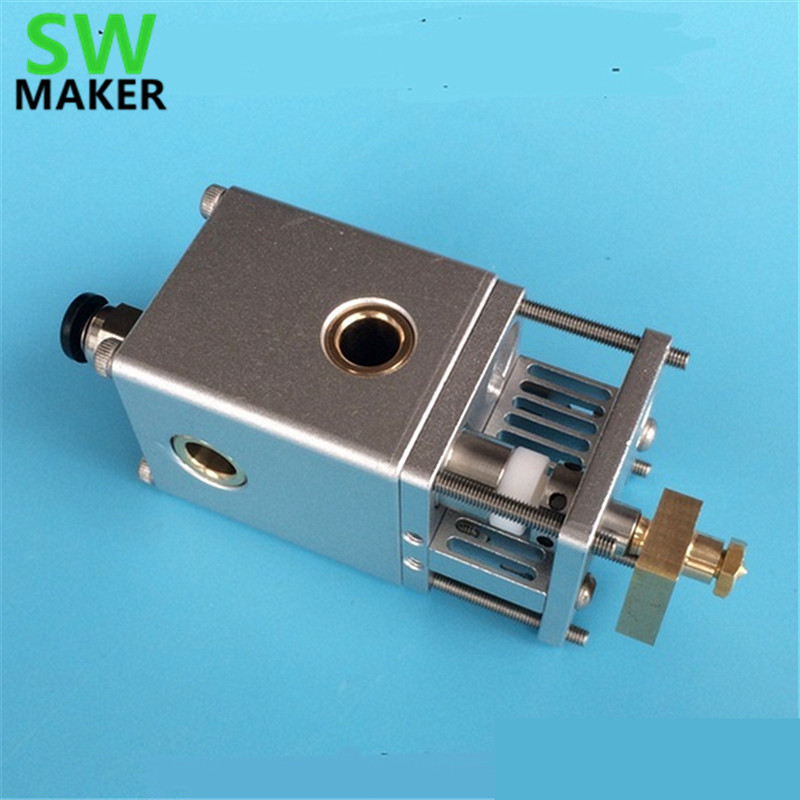 SWMAKER NEW Ultimaker 2+ UM2 3D printer all metal aluminum alloy printing hotend 1.75/3mm changable Olsson block nozzle kit ultimaker 2 diy um2 all metal aluminum alloy printing head 0 4mm nozzle hot end kit set for 1 75 3mm filament