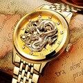 Neue Männer Uhren Einzigartige Design Drachen Uhr Luxus Goldene Mechanische Uhren Männer Edelstahl herren Uhren Skeleton Uhr