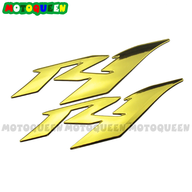 Yamaha YZF R1 R6 600 Universal Skull Rip Red Decal Decal Sticker Sticker pair