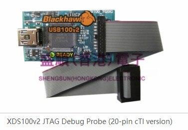 TMDSEMU100V2U-20T XDS100v2 JTAG émulateur 20 broches connecteur TI compact
