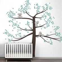 Весна коала дерево виниловые термоаппликации съемный стикер стены дендрарий винилы детская комната декор стены стикеры украшения дома