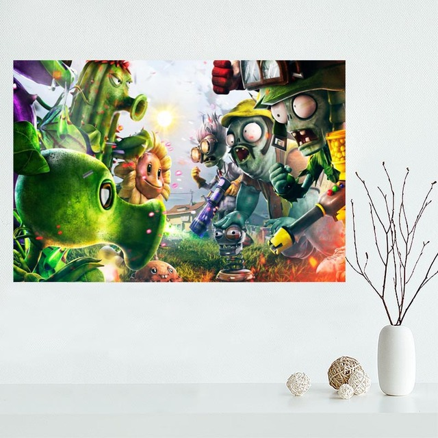 Nice Plants Vs Zombies Garden Warfare Custom Canvas Poster Art Home  Decoration Cloth Fabric Wall Poster