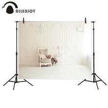Allenjoy photography backdrop European style wall indoor romantic wedding chair light background photo studio camera fotografica