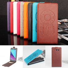 Phone Case for Samsung Galaxy J3 2017 Fashion Embossed Flip Leather Cover Case for Samsung Galaxy J3 Emerge Vertical Back Cover