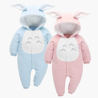 Cute Rabbit Ear Hooded Baby Rompers For Babies Boys Girls Clothes Newborn Clothing Brands Jumpsuit Infant