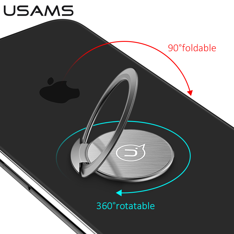 Ultra Thin Finger Ring Phone Holder Universal Car Mobile Phone Holder Ultra-thin Ring Bracket USAMS Holder 360 Degree Rotatable