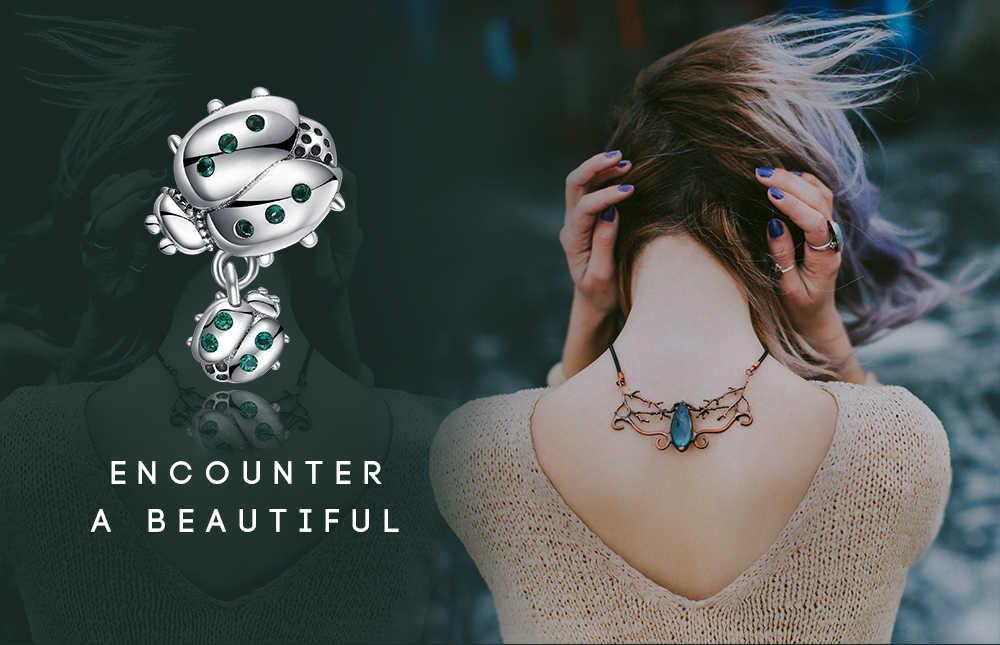 Jewelrypalace ladybird 925 prata esterlina grânulos encantos prata 925 original para pulseira de prata 925 original para fazer jóias