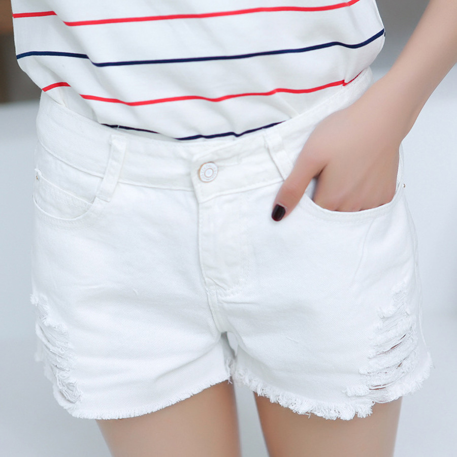 Cheap White Denim Shorts