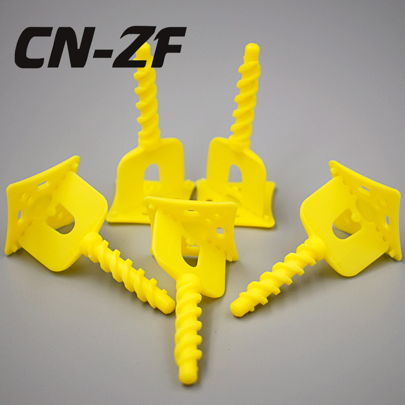 CN-ZF 50Pcs Plastic Ceramic Tools Spacers Tiling Alignment Floor Levelers Tile Leveling System Clips 1mm For Flooring Tiles