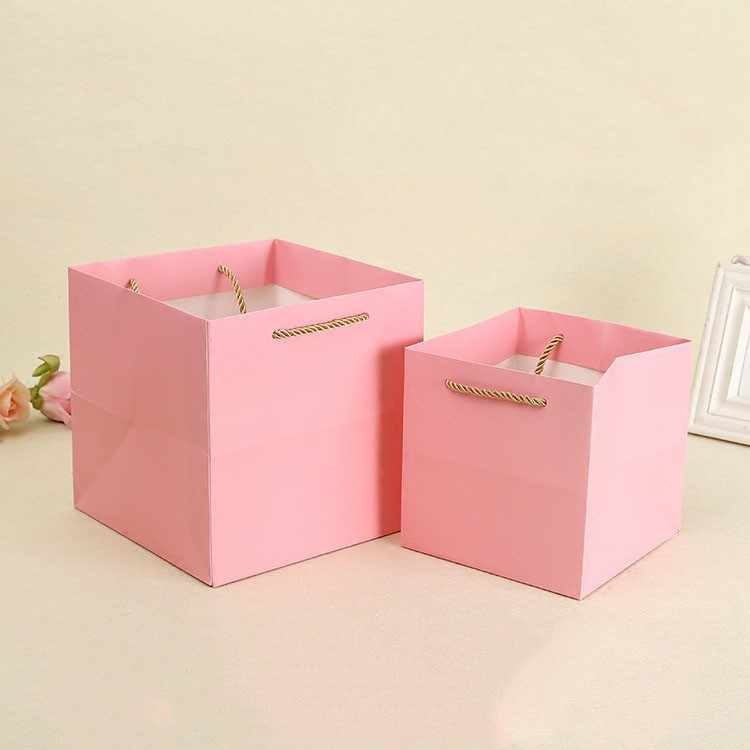 2018 new creative gift boxes big size paper cases for containing sugars favors event party supplies gift bags with string decor