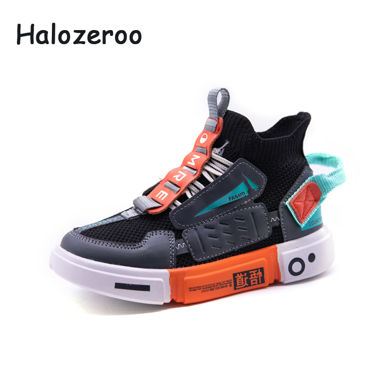 Autumn 2019 Children High Top Sport Sneakers Kids Soft Casual Sneakers Baby Girls Mesh Shoes Boys White Brand Sneakers Trainers