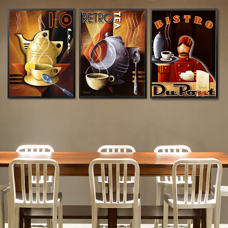Modern Waiter Canvas Painting Wall Art Picture For Kitchen